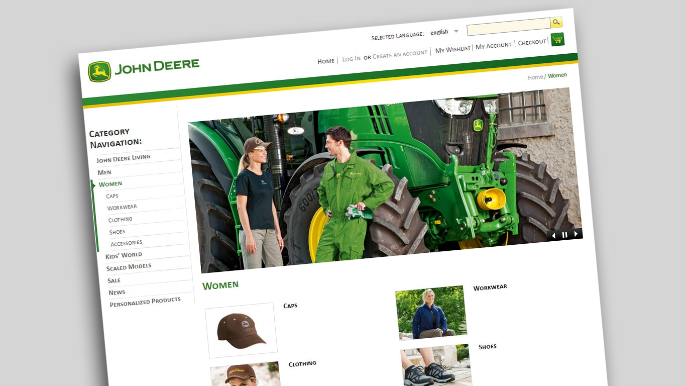 99896fbbdf40 Online butik | John Deere DK