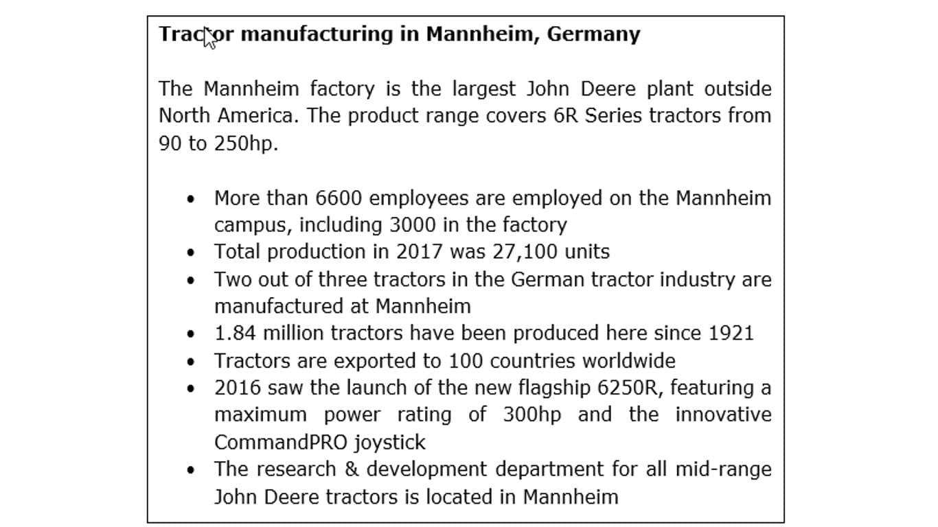 Mannheim tractor production: a brief overview